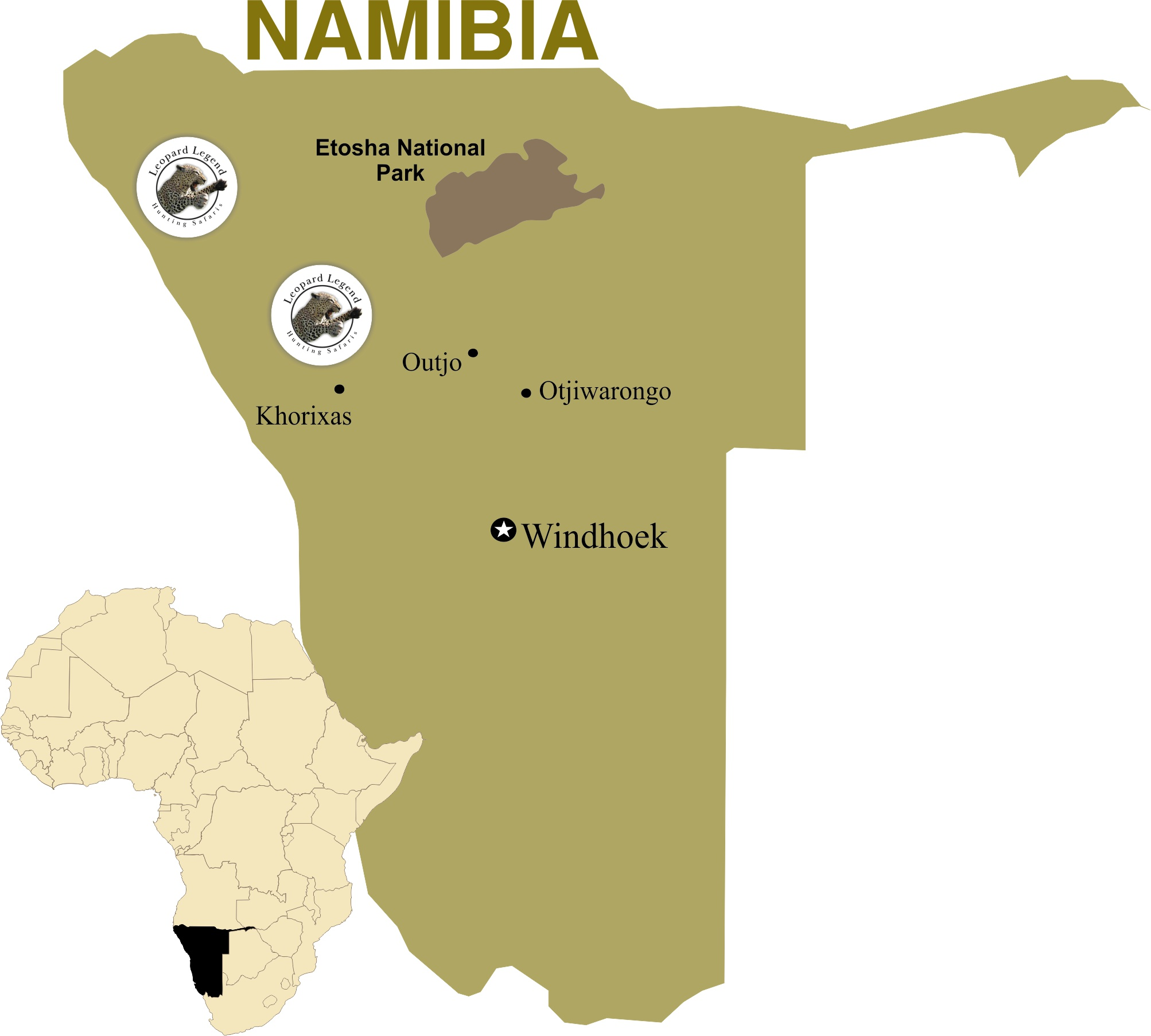 Map of our 2 Conservancies
